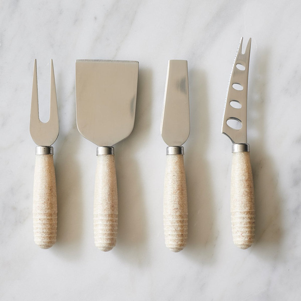 Faux Sandstone Cheese Knife Set