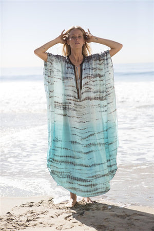 Chiffon holiday gown robe Boho Cover-Ups