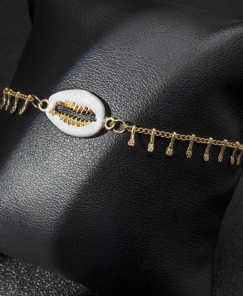 Beach Wind Metal Shell Anklet Footchain
