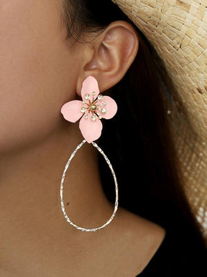 Big Round lower Beach Exaggerated Statement Boho Earrings