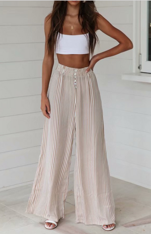 Striped wide-leg Boho Pants