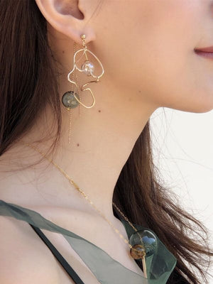 Flashing verbena line in the afternoon earrings