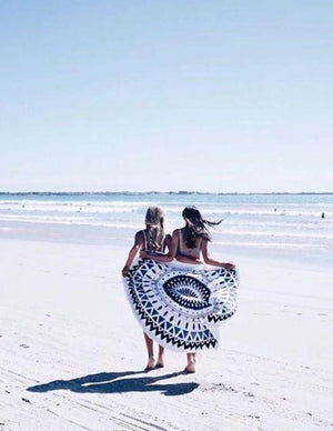 Bohemian Round beach Tapestry  with tassel