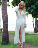 Bohemian beach holiday  lace Long dress Cover-up
