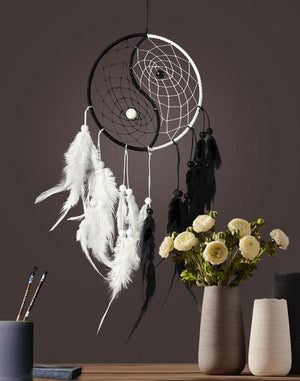 Classical Art Yin Yang Dream Catcher Round Handmade Home Hanging