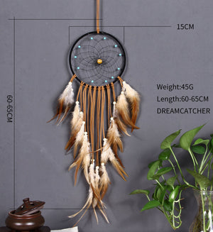 New Design Home Decor Dream Catcher Circular Feathers