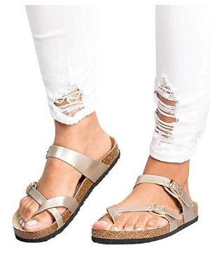Ankle Strap Buckle Flip Flop Gladiator Thong Shoes