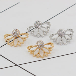 Openwork Lotus Earrings