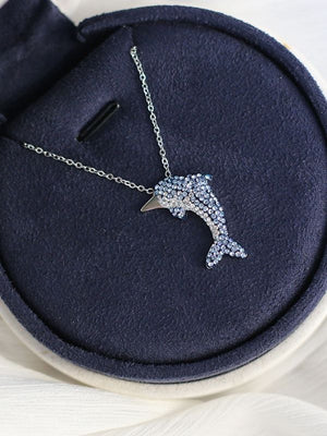 Dolphin Crystal Necklace