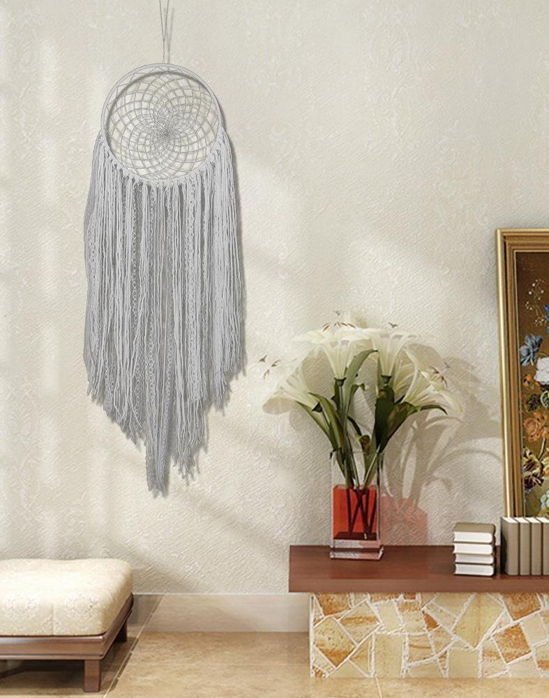 Bohemian White Tassel Dream Catcher Wedding Decoration