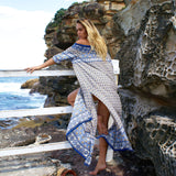 Beach wrapped chest dress bohemian maxi dress