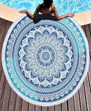 Bohemian Beach Tapestry with Tassels Yoga Mat Towel