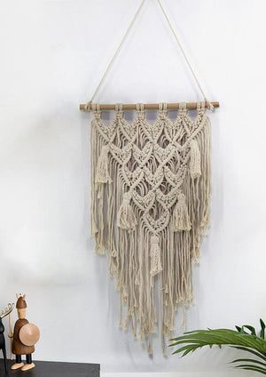 Modern Love Macrame Wall Hanging Decor Fiber Art Tapestry Bohemian Dream catch
