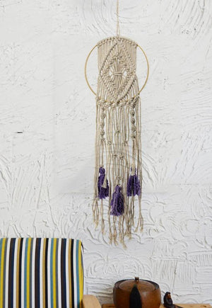 Macrame Handmade Dream-catcher Bohemian style Wall Tapestry