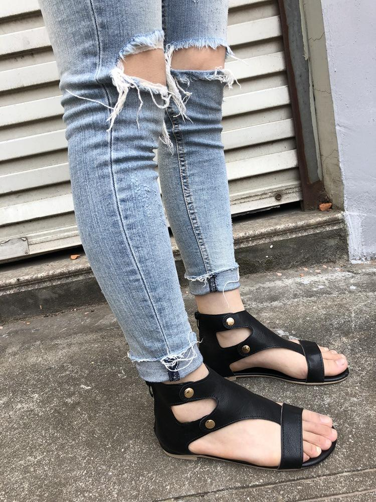 Metal Rivet Flat Size 35-43 Bottom Roman Boho Sandals Shoes