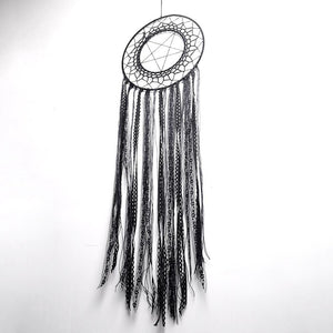 New Style Handcrafted Black Lace Tassel Round Star Boho Dreamcatcher