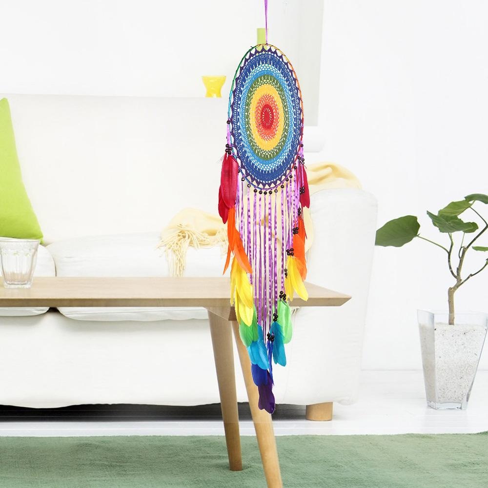 Bohemian Rainbow Handmade Tassel Dream Catcher