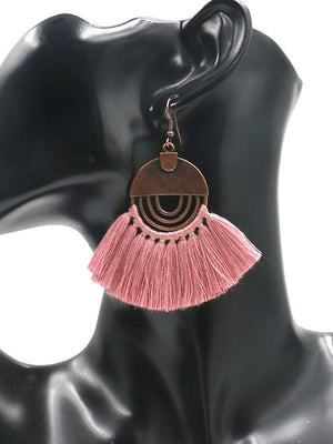 Fashion Bohemian Fan Tassel Boho Earrings