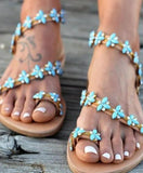 Flat Bottomed Large Size Hollowed Boho Sandals