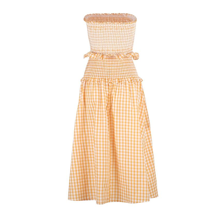 Fashion houndstooth sleeveless vest skirt two-piece suit