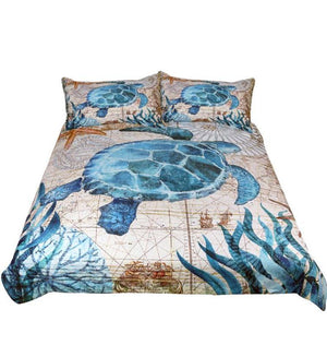 Digital Printing Queen Dovet Cover Set Quilt Bedclothes