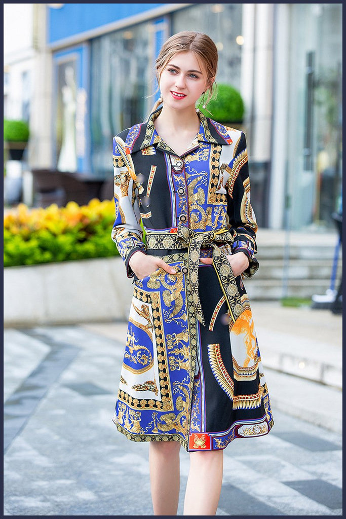 Bohemian Woman Autumn New Chic Windbreaker Coat
