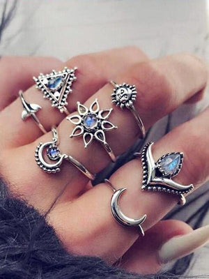 Fashion New Diamond Set 7 Pieces Ring