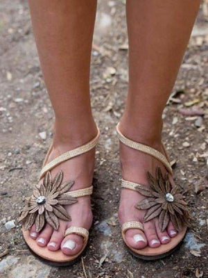 Bohemia Flat With Slip-On Thong Casual Boho Sandals