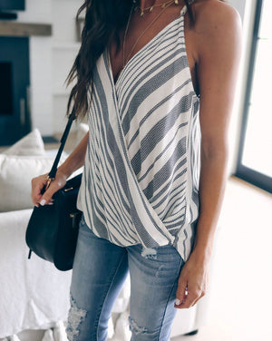 Striped Casual Street Boho Tank Tops