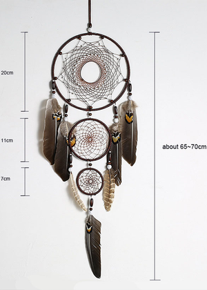 Eagle Feather Indoor Pendant Indian Dream Catcher