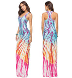 Bohemian Floor Length Boho Sleeveless Maxi Dress