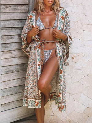 Printed Beach Loose Boho Kimonos Swimwear