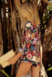 Bohemia Floral V-Neck Long Sleeves Romper suit