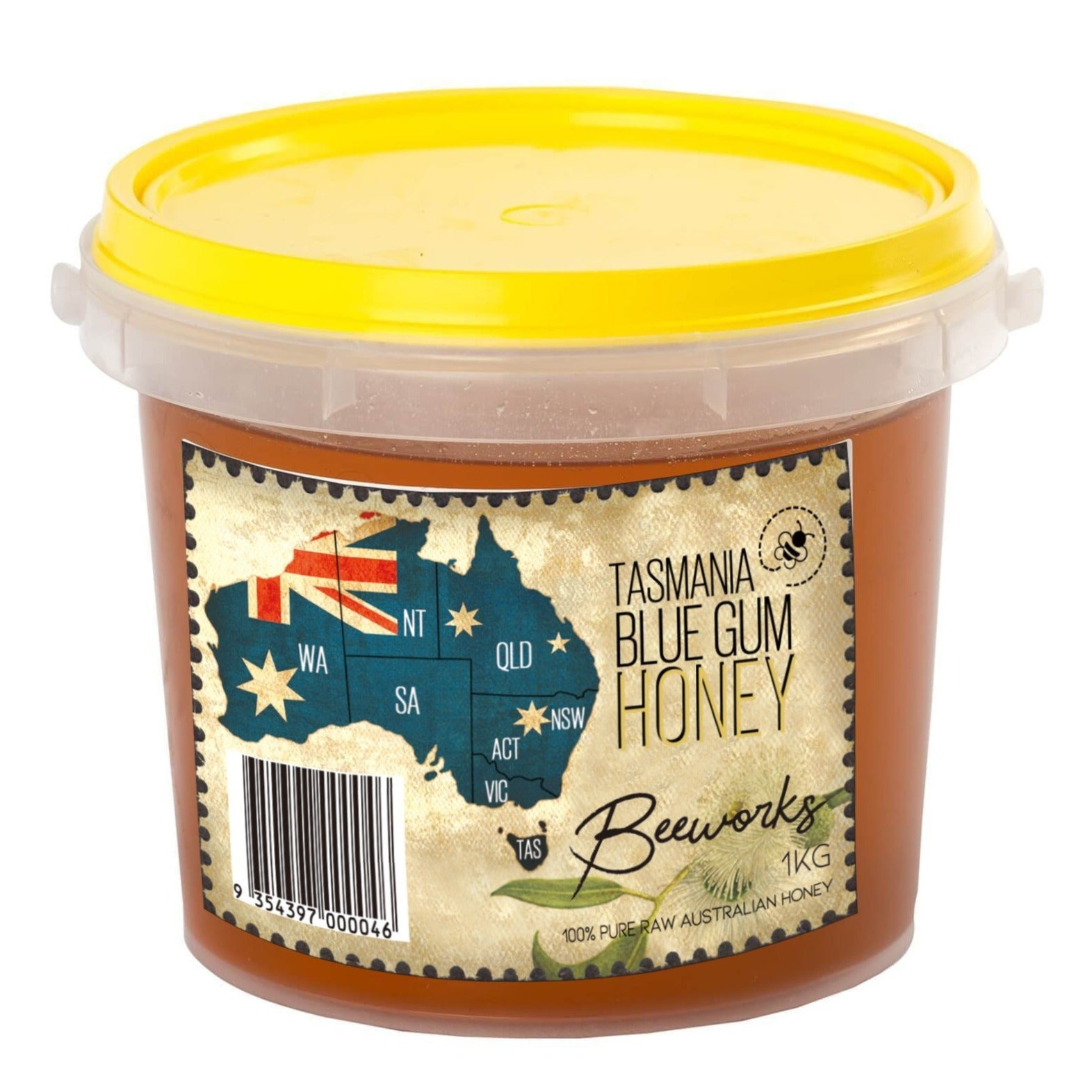Blue Gum Honey Tub (1kg)