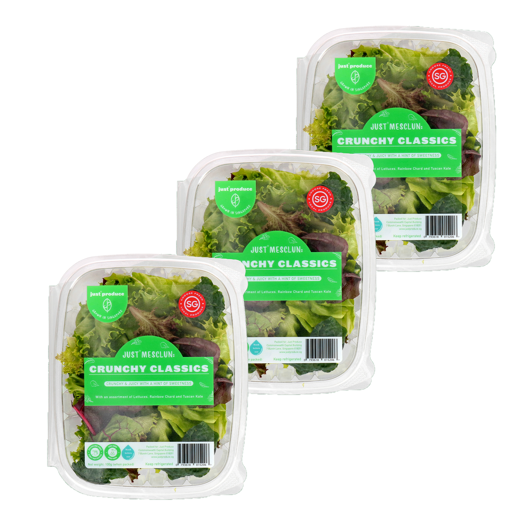 Just Mesclun - Crunchy Classics Bundle (100g x 3)