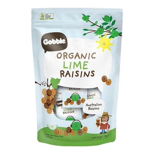 Organic Lime Raisins (12g x 10 packs)