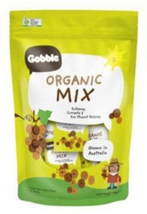 Organic Mix - Sultanas, Currants and Sun Muscat Raisins (12g x 10 packs)