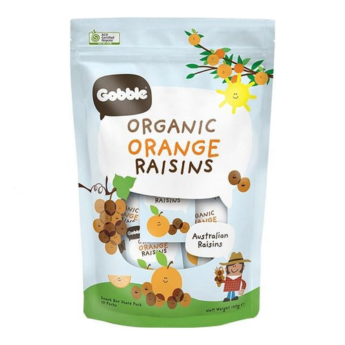 Organic Orange Raisins (12g x 10 packs)