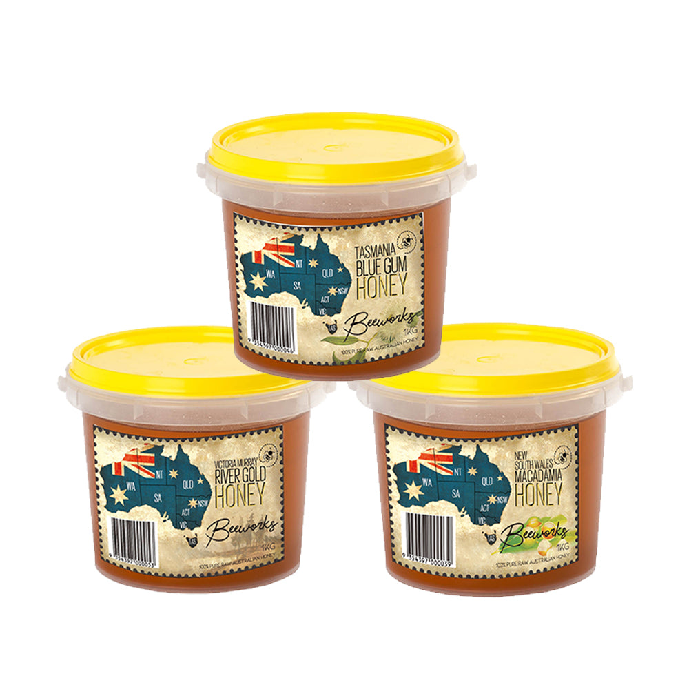 Triple Honey Tub Combo (1kg x 3)