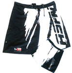 ASFN Sport Fishing Board Shorts - Black & White