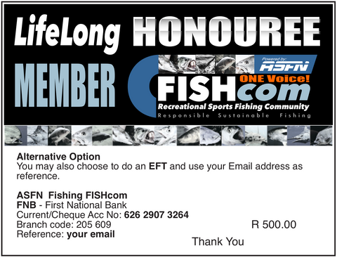 FISHcom - LifeLong HONOUREE Member Offer