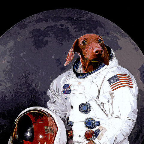 CUSTOM PET ASTRONAUT PORTRAIT