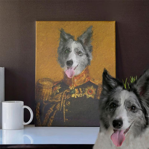 Image of THE GENERAL - CUSTOM PET CANVAS