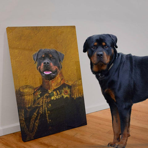THE GENERAL - CUSTOM PET CANVAS Canvas K9 Dog Lovers