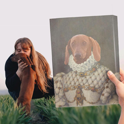 Image of THE PRINCESS - CUSTOM PET CANVAS K9 Dog Lovers