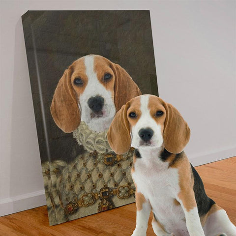 Image of THE PRINCESS - CUSTOM PET CANVAS