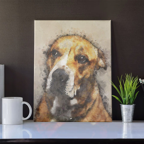 Image of THE VINTAGE PAWS - CUSTOM PET CANVAS