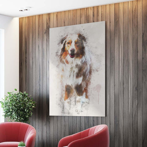 Image of THE VINTAGE PAWS - CUSTOM PET CANVAS K9 Dog Lovers