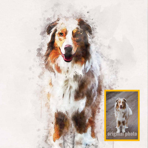 THE VINTAGE PAWS - CUSTOM PET CANVAS K9 Dog Lovers