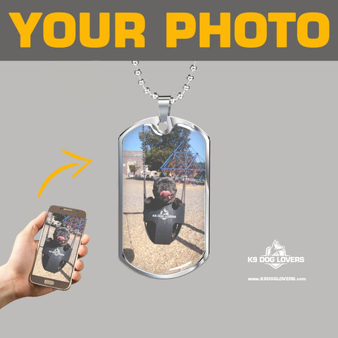 PERSONALIZED DOG TAG Necklace - [upload your photo]